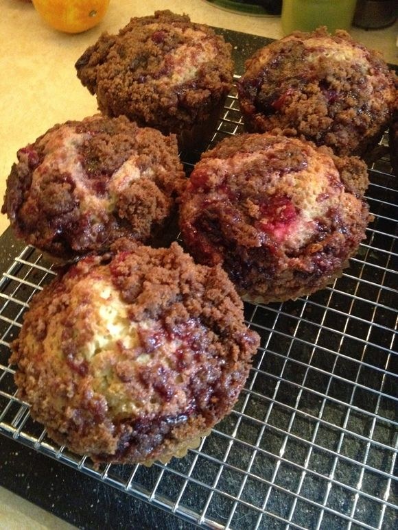 Raspberry Streusel Coffee Cakes ... Cooling